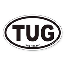 Tug Hill New York TUG Euro Oval Decal