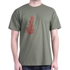 Chinese Red Dragon Graphic T-Shirt