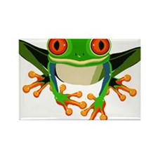 Colorful Tree Frog Rectangle Magnet