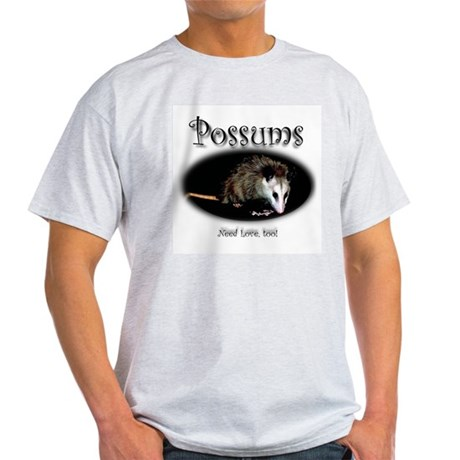 Possums Need Love Too Ash Grey T-Shirt