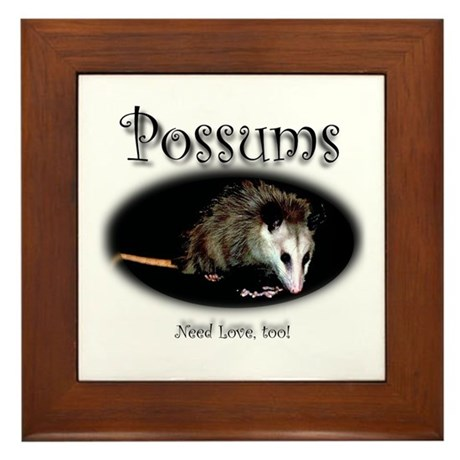 Possums Need Love Too Framed Tile