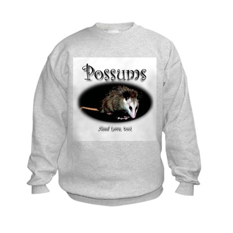 Possums Need Love Too Kids Sweatshirt