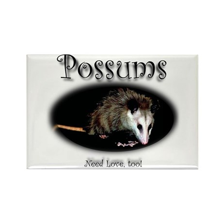 Possums Need Love Too Rectangle Magnet