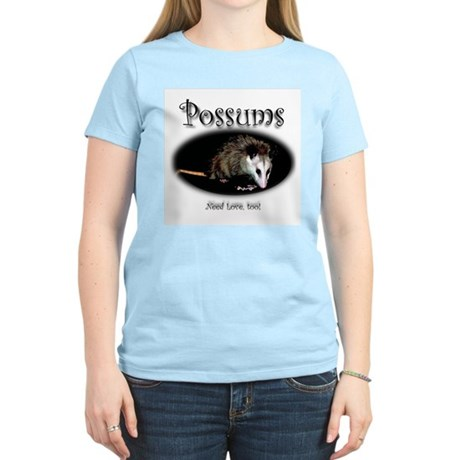 Possums Need Love Too Women's Pink T-Shirt