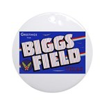 Biggs Field Texas Ornament (Round)