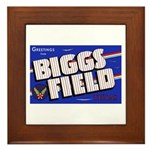 Biggs Field Texas Framed Tile