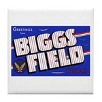 Biggs Field Texas Tile Coaster