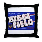Biggs Field Texas Throw Pillow