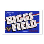 Biggs Field Texas Rectangle Sticker