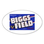 Biggs Field Texas Oval Sticker