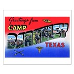 Camp Barkeley Texas Small Poster