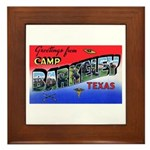 Camp Barkeley Texas Framed Tile