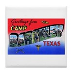 Camp Barkeley Texas Tile Coaster