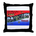 Camp Barkeley Texas Throw Pillow
