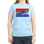 Camp Barkeley Texas (Front) Women's Pink T-Shirt