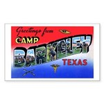 Camp Barkeley Texas Rectangle Sticker