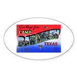 Camp Barkeley Texas Oval Sticker
