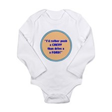 Unique Ford Long Sleeve Infant Bodysuit