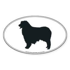 Australian Shepherd Silhouette Oval Decal