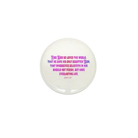 John 3:16 Rainbow II Mini Button (10 pack)