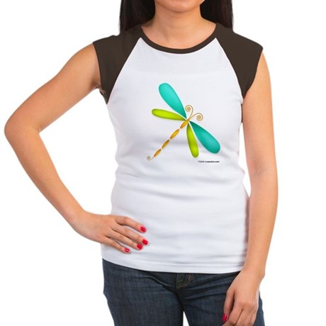 Colorful Dragonfly Women's Cap Sleeve T-Shirt