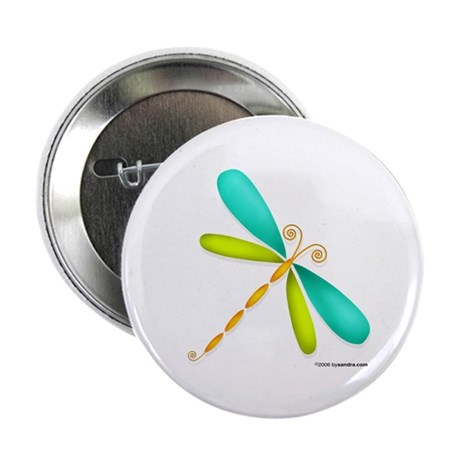 Colorful Dragonfly Button