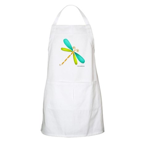 Colorful Dragonfly BBQ Apron