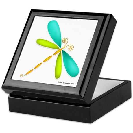Colorful Dragonfly Keepsake Box