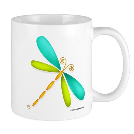 Colorful Dragonfly Mug
