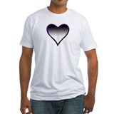 Asexual Flag Heart Shirt