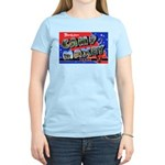 Camp Maxey Texas (Front) Women's Pink T-Shirt