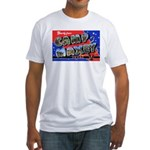 Camp Maxey Texas (Front) Fitted T-Shirt