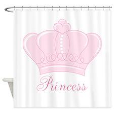 Pink Crown Princess Shower Curtain