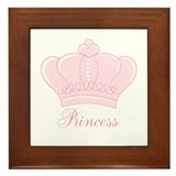 Pink Crown Princess Framed Tile
