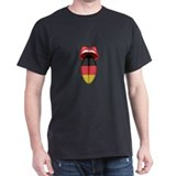 German Flag Tongue Black T-Shirt