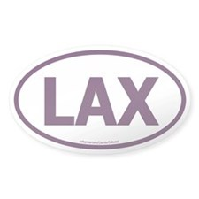 LAX Oval Decal