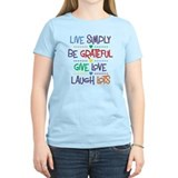 Live Simply Affirmations T-Shirt
