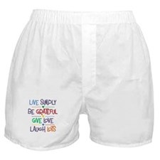 Live Simply Affirmations Boxer Shorts