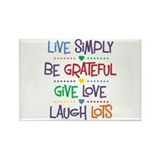 Live Simply Affirmations Rectangle Magnet (10 pack