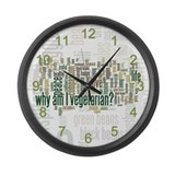 Why Am I Vegetarian Large Wall Clock
