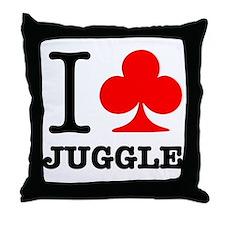 I Club Juggle Throw Pillow