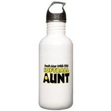 Dont Mess With This Softball Aunt.png Water Bottle