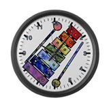 Wild Xylophone Large Wall Clock