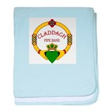 Claddagh Pipe Band Logo baby blanket