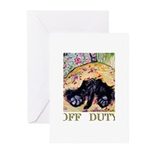 Off Duty Scottish Terrier Greeting Cards (Pk of 10