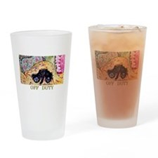 Off Duty Scottish Terrier Drinking Glass