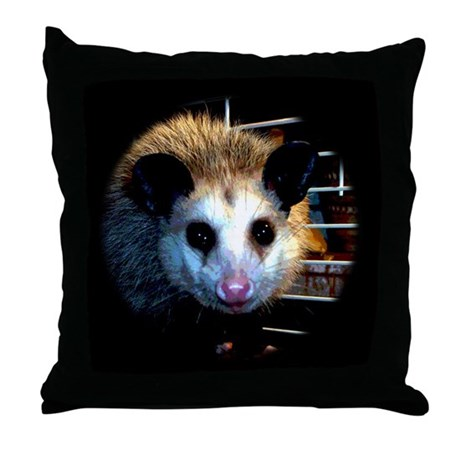 The Opossum Throw Pillow
