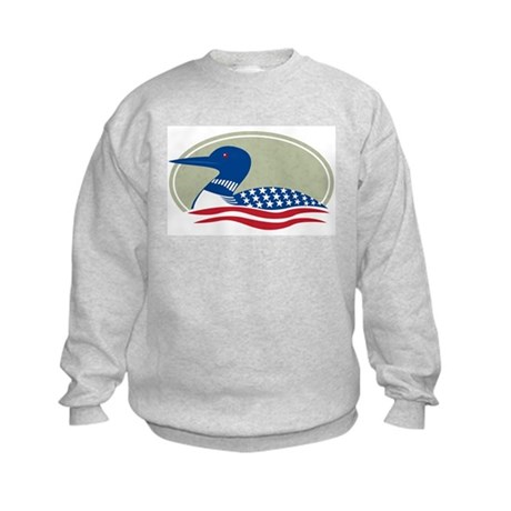 Proud Loon Oval: Kids Sweatshirt