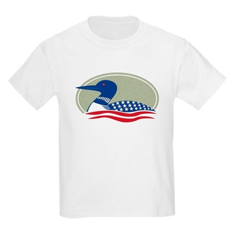 Proud Loon Oval: Kids T-Shirt