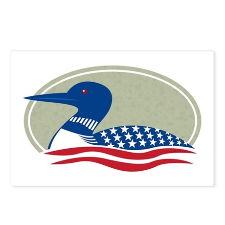 Proud Loon Oval: Postcards (Package of 8)